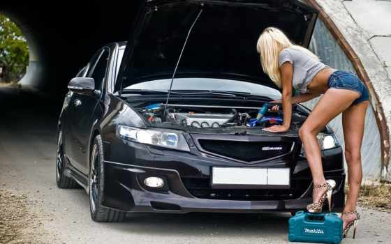 девушка, honda, devushki, авто, нефть, страница, заливает, accord, blonde, pic, motor,