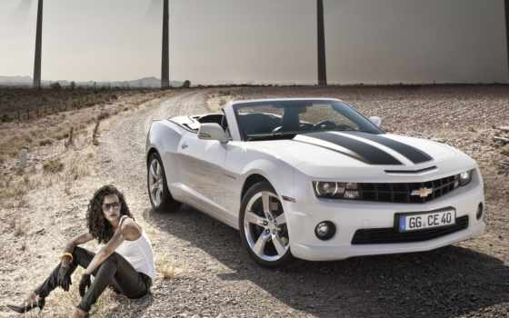 chevrolet, camaro, кабриолет, камаро, авто, девушка, автомобили, car, машины, white,