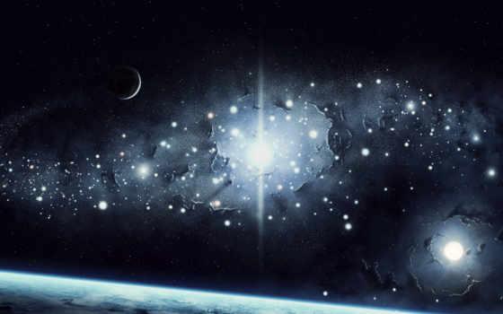 cosmos, планеты, land, гладь, свет, звезды,