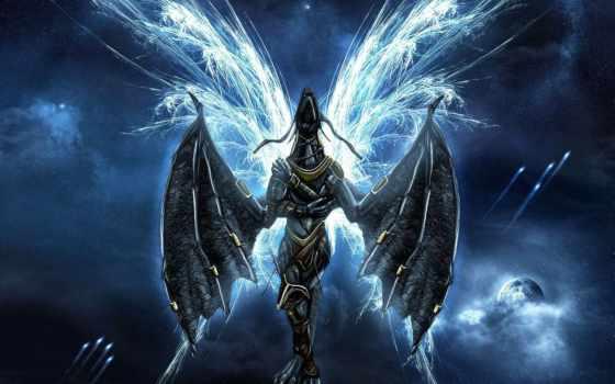 fantasy, angel, фон, art, демоны, ангелы, doll,