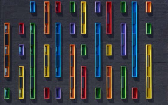 sideview, colorfull, окно, вертикальный, mais, стена, página, parede, papéis