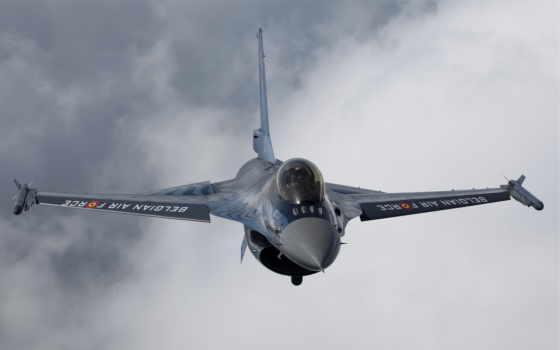 облака, полет, картинка, falcon, картинку, истребитель, general, fighting, dynamics, небо, самолёт, кнопкой, мыши,