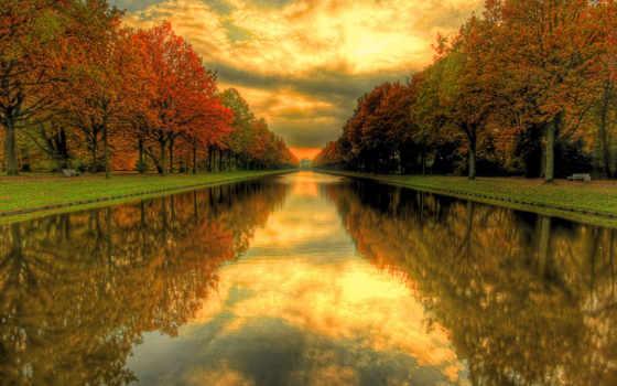 осень, water, природа