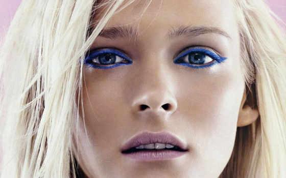 голубых, глаз, макияж, серо, блондинок, очень, фотографий, использование, голубые,