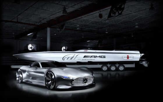 лодка, miami, сигарета, racing, показать, международный, mercedes, amg, февр, concept, vision,