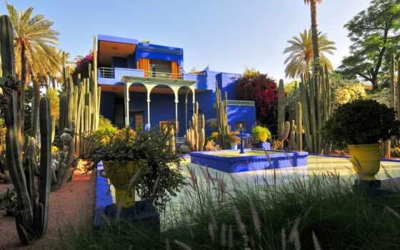 majorelle, jardin, marrakesh, marrakech, garden, morocco, интерьер, mazhorel, fond, home, création