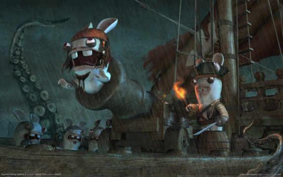 rayman, raving, rabbids, кролики, воробей, бешеные, игры, rabbits, пираты, юмор, ubisoft, best, джек,