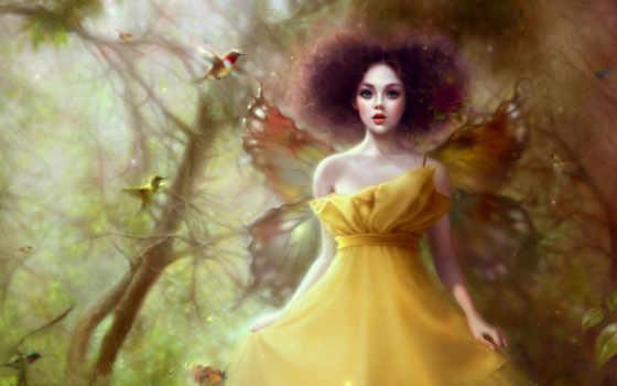 девушки, girl, butterfly, крылья, фея, фэнтези, сказка, fantasy, similar, часть, ссылка, best, бабочки, желтая, сообщений, юбка, fondos,