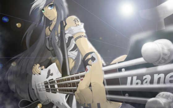 anime, гитара, музыка