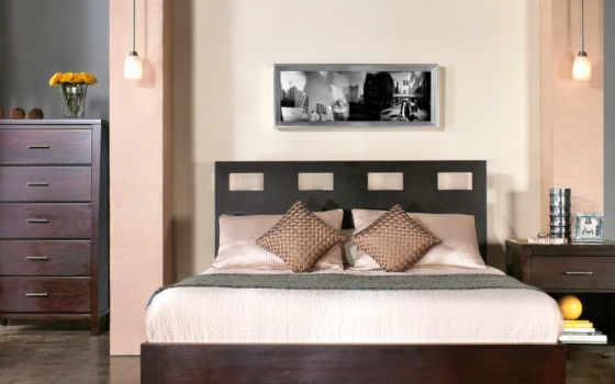 спальни, стиле, кровать