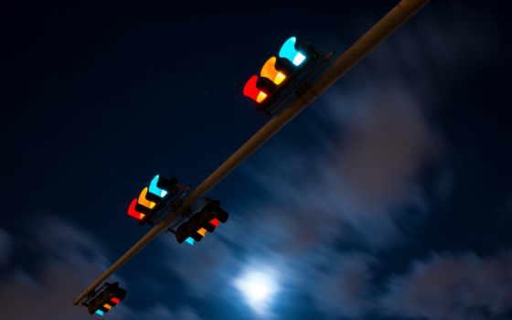 para, semáforo, свет