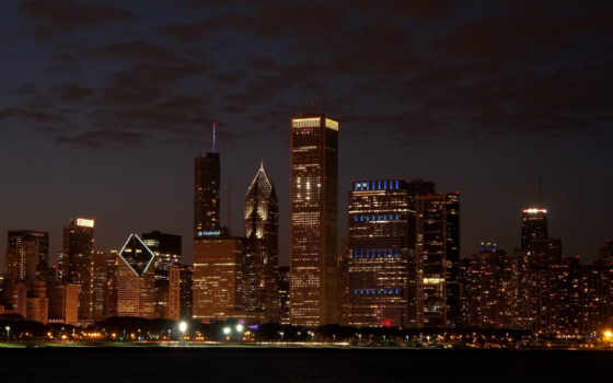 skyline, chicago, desktop