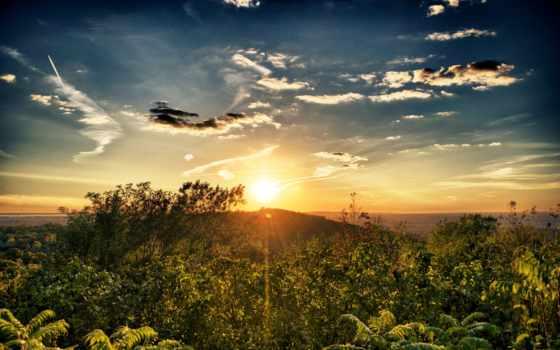 солнца, landscape, пейзажи -