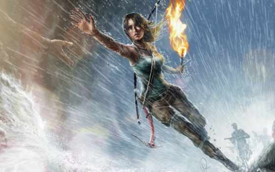 tomb, raider, взлёт, лара, croft, ipad,