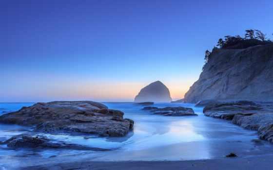 море, камни, waves, скалы, water, берег, пляж, природа, свечение, камень, небо,