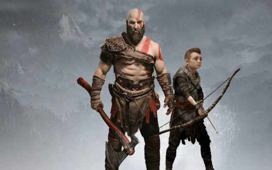 war, god, kratos, игры, playstation, назад, atreus,