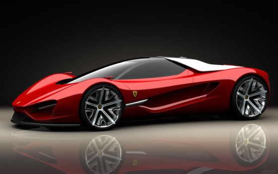 ferrari, car, картинка, красная, спортивные, cars,
