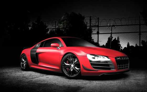 audi, red