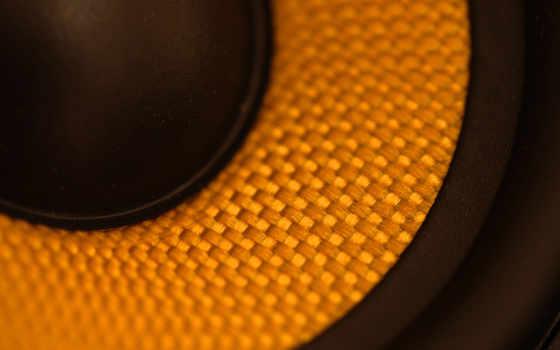 ,динамик,желтый,мембрана,