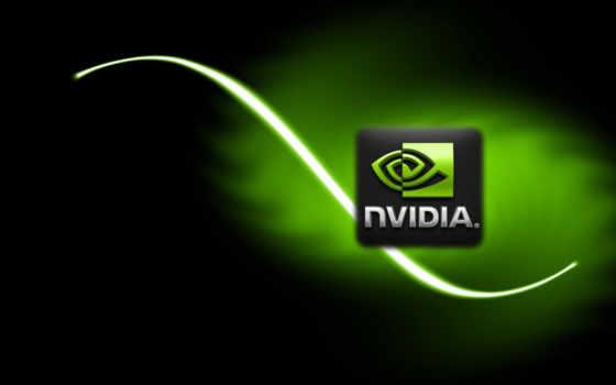 nvidia на чёрно-зелёном фоне