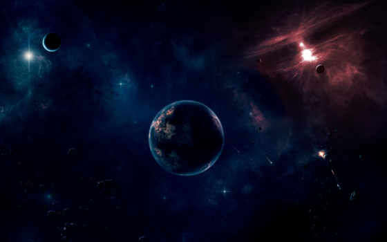 cosmos, planet, красивые, abyss, космос, спутник, widescreen, планеты, звезды, desktop,