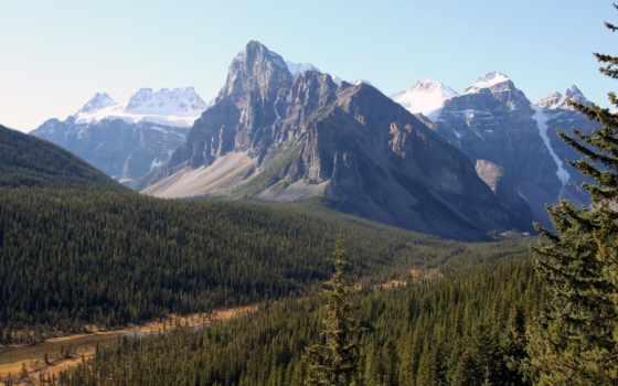 озеро, banff, louise, moraine, landscape, park, national, sidney, канада, природа,