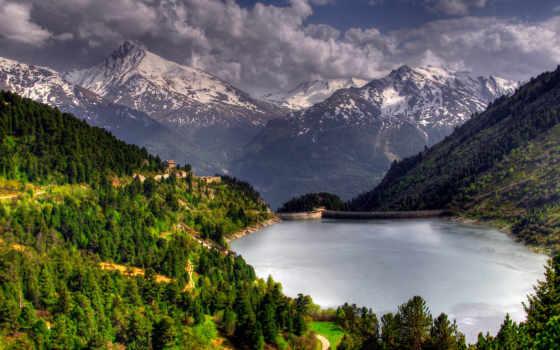 trees, landscape, природа, леса, озеро, пейзажи -, forests,
