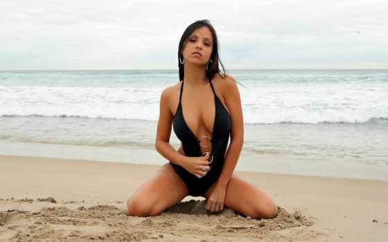 dubai, conrad, купальнике, девушка, берегу, картинку, моря, разных, world,