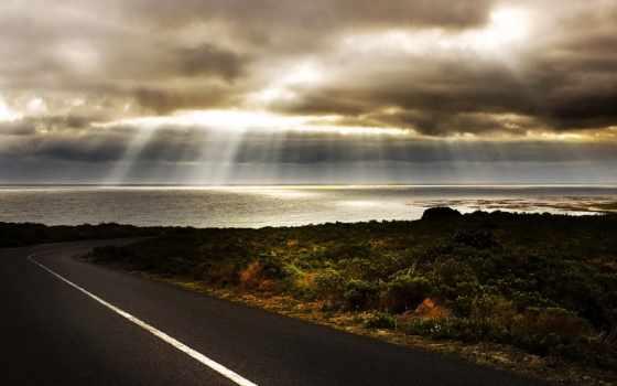 дорога, море