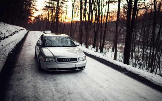 ауди, stance, снег