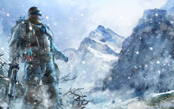 снайпер, воин, ghost Фон № 97618 разрешение 2560x1600