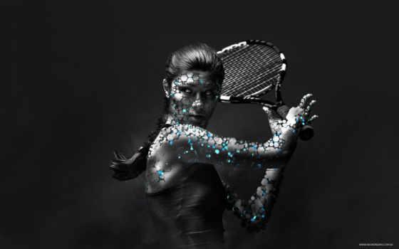 тенис, спорт, девушка