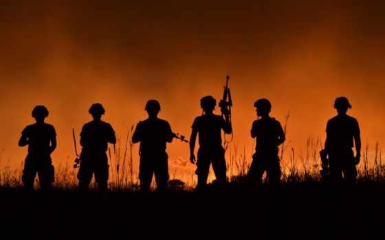 военный, оружие, военные