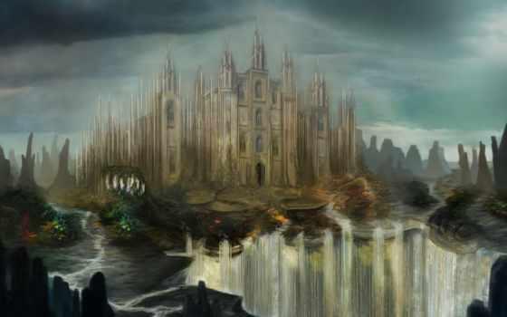 castle, вышивки, схемы, fantasy, замки, схема, фэнтези, город, автора, сказ, elenamironenko,