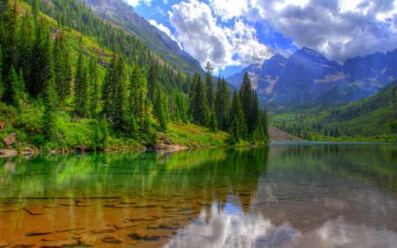бардовый, склянки, озеро, colorado, природа, mountains, aspen, landscape,