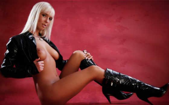 erotica, сидит, голая, прекрасная, девушка,