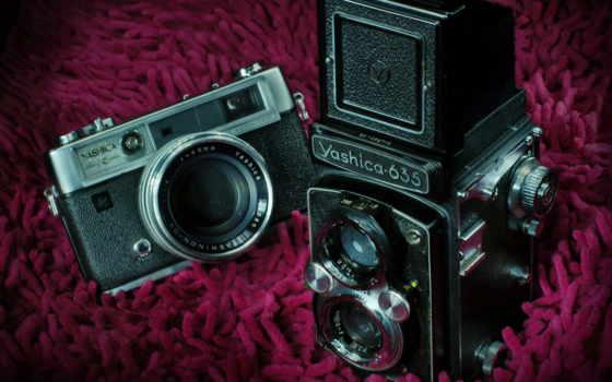 фотоаппарат, ретро, zoom