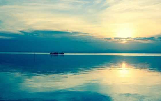 twitter, лодка, landscape, море, небо, тенгер, пейзажи -, android, cover, header,