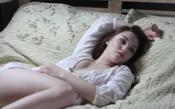 кровать, картинка, девушка, videos,
