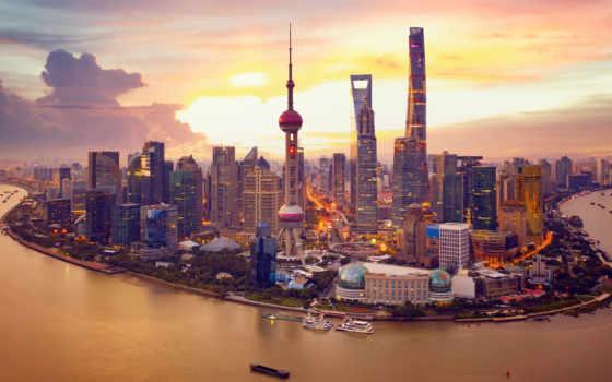 китаянка, город, building, house, красивый, shanghai, china, река, free, ночь