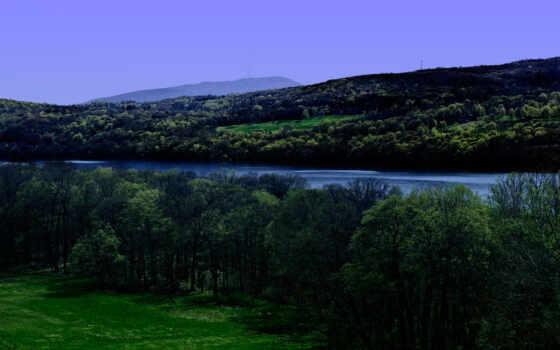 дерево, река, coolwallpaper, pantalla, природа, widescreen, tapety, landscape, árbol, поле