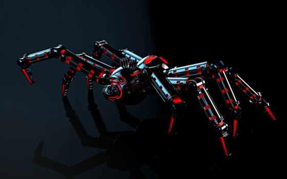robot, spider
