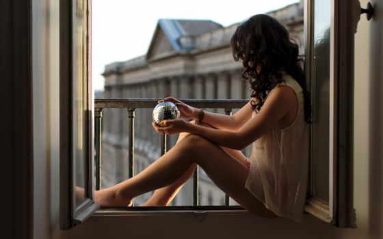 девушка, окно, окна