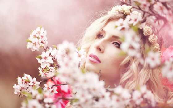 саду, цветущем, фотосессия, девушка, весна, розовом, фотосток, angel, pinterest, google,