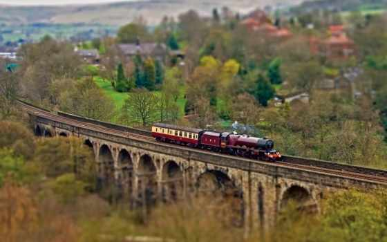 железная, поезд, дорога, поезда, дороги, железной, локомотив, вагоны, мост,