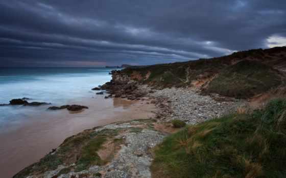море, широкоформатные, вечер