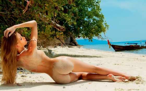 пляже, devushki, обнаженные, porn, девушка, голая, девушек,
