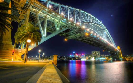 австралия, puente, bahía, sídney, sydney, пейзажи -, fondos,