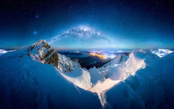 shirokoformatnyi, город, гора, снег, торрент, хороший, природа, эротический, объект