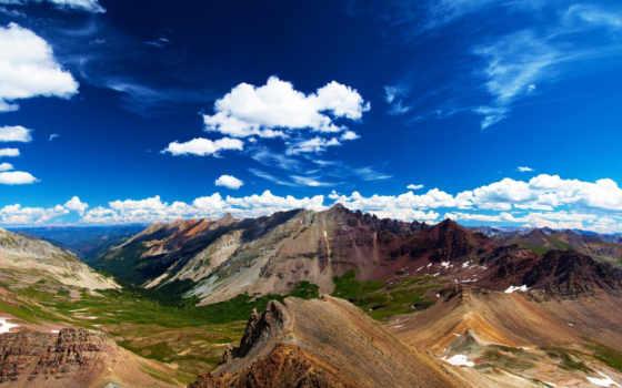 небо, горы, природа